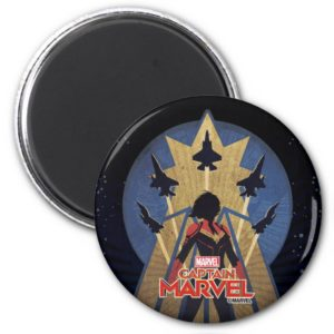 Captain Marvel | Art Deco Airforce Graphic Magnet