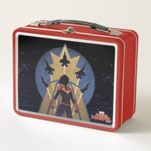 Captain Marvel | Art Deco Airforce Graphic Metal Lunch Box