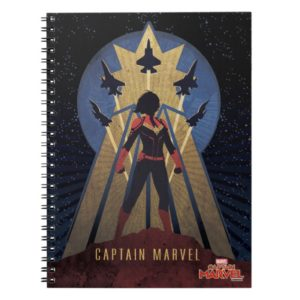 Captain Marvel | Art Deco Airforce Graphic Notebook