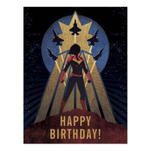 Captain Marvel   Art Deco Airforce Graphic Postcard