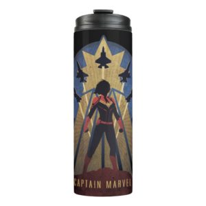 Captain Marvel | Art Deco Airforce Graphic Thermal Tumbler