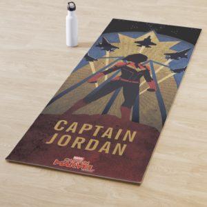 Captain Marvel | Art Deco Airforce Graphic Yoga Mat