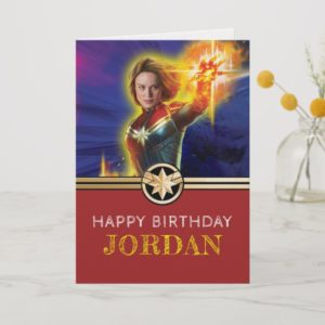 Captain Marvel | Birthday Card