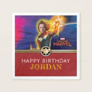 Captain Marvel | Birthday Napkin