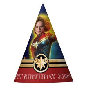 Captain Marvel | Birthday Party Hat