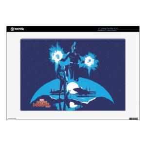"Captain Marvel | Blue Captain Marvel & Goose Scene 15"" Laptop Decal"