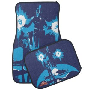 Captain Marvel | Blue Captain Marvel & Goose Scene Car Floor Mat