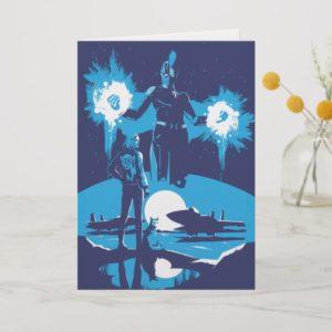 Captain Marvel   Blue Captain Marvel & Goose Scene Card