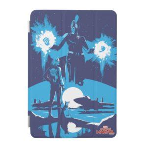 Captain Marvel | Blue Captain Marvel & Goose Scene iPad Mini Cover