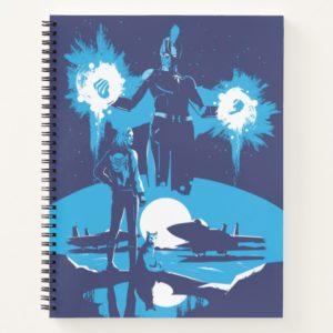 Captain Marvel | Blue Captain Marvel & Goose Scene Notebook