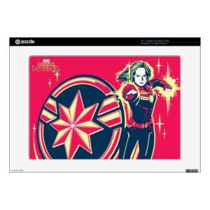 "Captain Marvel | Captain Marvel Photon Fists 15"" Laptop Decal"