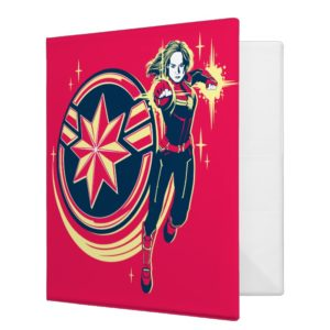 Captain Marvel | Captain Marvel Photon Fists 3 Ring Binder