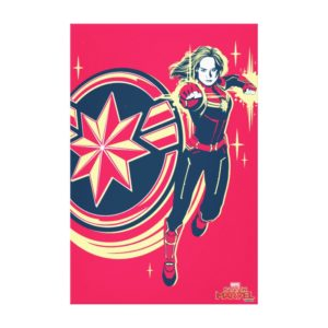 Captain Marvel | Captain Marvel Photon Fists Canvas Print