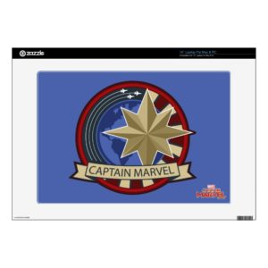 "Captain Marvel | Captain Marvel US Military Badge 15"" Laptop Decal"