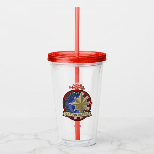 Captain Marvel | Captain Marvel US Military Badge Acrylic Tumbler