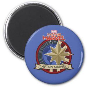 Captain Marvel | Captain Marvel US Military Badge Magnet