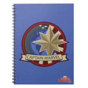 Captain Marvel | Captain Marvel US Military Badge Notebook