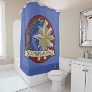 Captain Marvel | Captain Marvel US Military Badge Shower Curtain