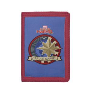 Captain Marvel | Captain Marvel US Military Badge Trifold Wallet