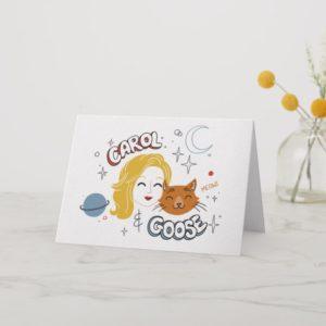 Captain Marvel | Carol & Goose Illustration Card