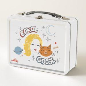 Captain Marvel   Carol & Goose Illustration Metal Lunch Box