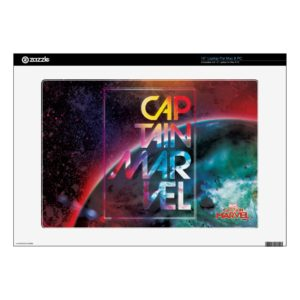 "Captain Marvel | Colorful Planetary Horizon 15"" Laptop Decal"