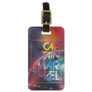 Captain Marvel | Colorful Planetary Horizon Bag Tag