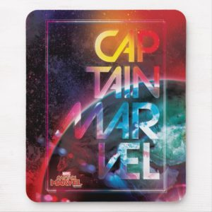 Captain Marvel | Colorful Planetary Horizon Mouse Pad
