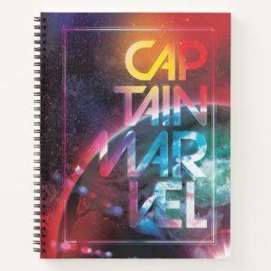 Captain Marvel | Colorful Planetary Horizon Notebook