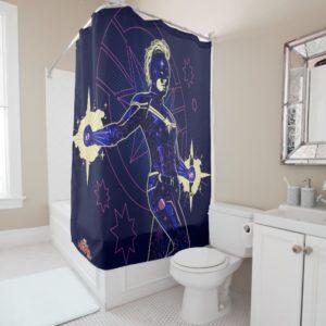 Captain Marvel | Constellation Character Art Shower Curtain