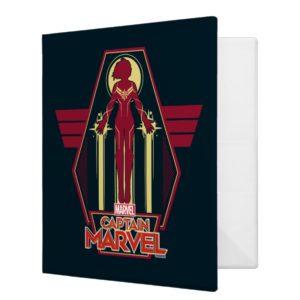Captain Marvel   Flying Character Badge 3 Ring Binder