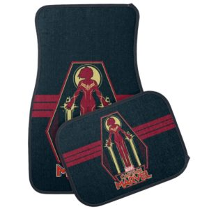 Captain Marvel | Flying Character Badge Car Floor Mat