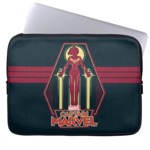Captain Marvel | Flying Character Badge Computer Sleeve