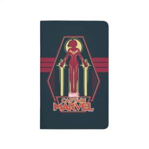Captain Marvel   Flying Character Badge Journal
