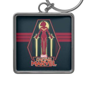 Captain Marvel   Flying Character Badge Keychain