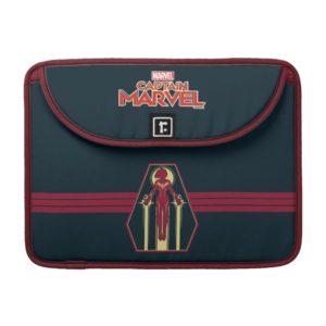 Captain Marvel | Flying Character Badge MacBook Pro Sleeve