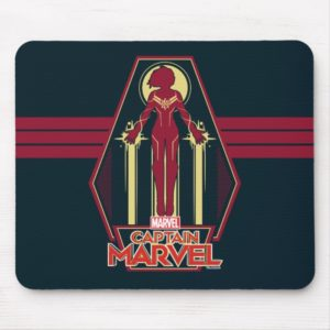 Captain Marvel | Flying Character Badge Mouse Pad