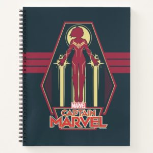 Captain Marvel | Flying Character Badge Notebook