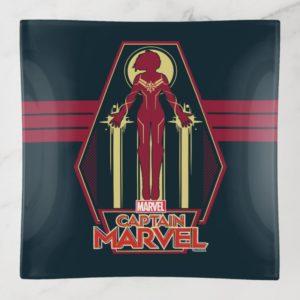 Captain Marvel | Flying Character Badge Trinket Trays