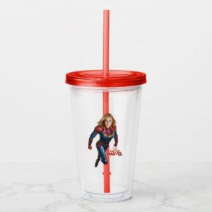 Captain Marvel | Flying Closeup Character Art Acrylic Tumbler