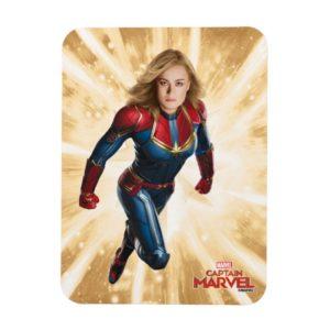 Captain Marvel   Flying Closeup Character Art Magnet