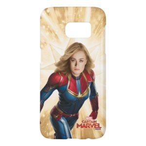 Captain Marvel | Flying Closeup Character Art Samsung Galaxy S7 Case