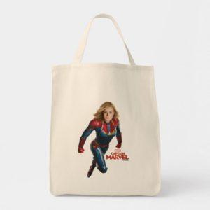 Captain Marvel   Flying Closeup Character Art Tote Bag