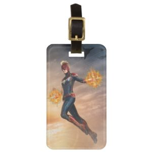 Captain Marvel | Flying With Energy Fists Bag Tag