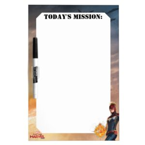 Captain Marvel   Flying With Energy Fists Dry Erase Board