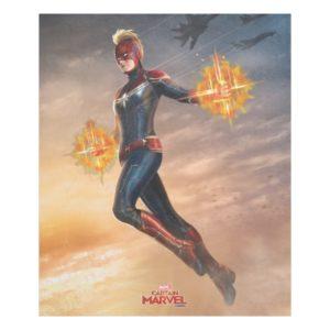 Captain Marvel | Flying With Energy Fists Fleece Blanket