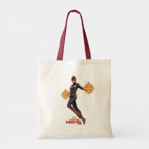 Captain Marvel | Flying With Energy Fists Tote Bag