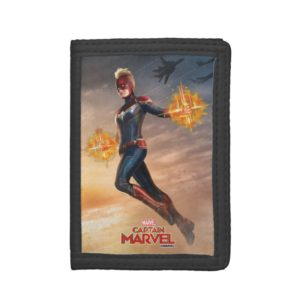 Captain Marvel | Flying With Energy Fists Trifold Wallet