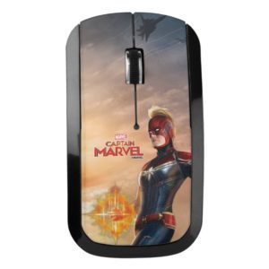 Captain Marvel   Flying With Energy Fists Wireless Mouse