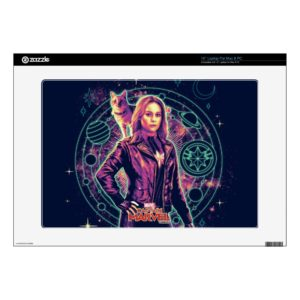 "Captain Marvel | Galactic Goose & Carol Graphic 15"" Laptop Decal"